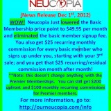 Neucopia SLASHES signup fees and RAISES commissions!